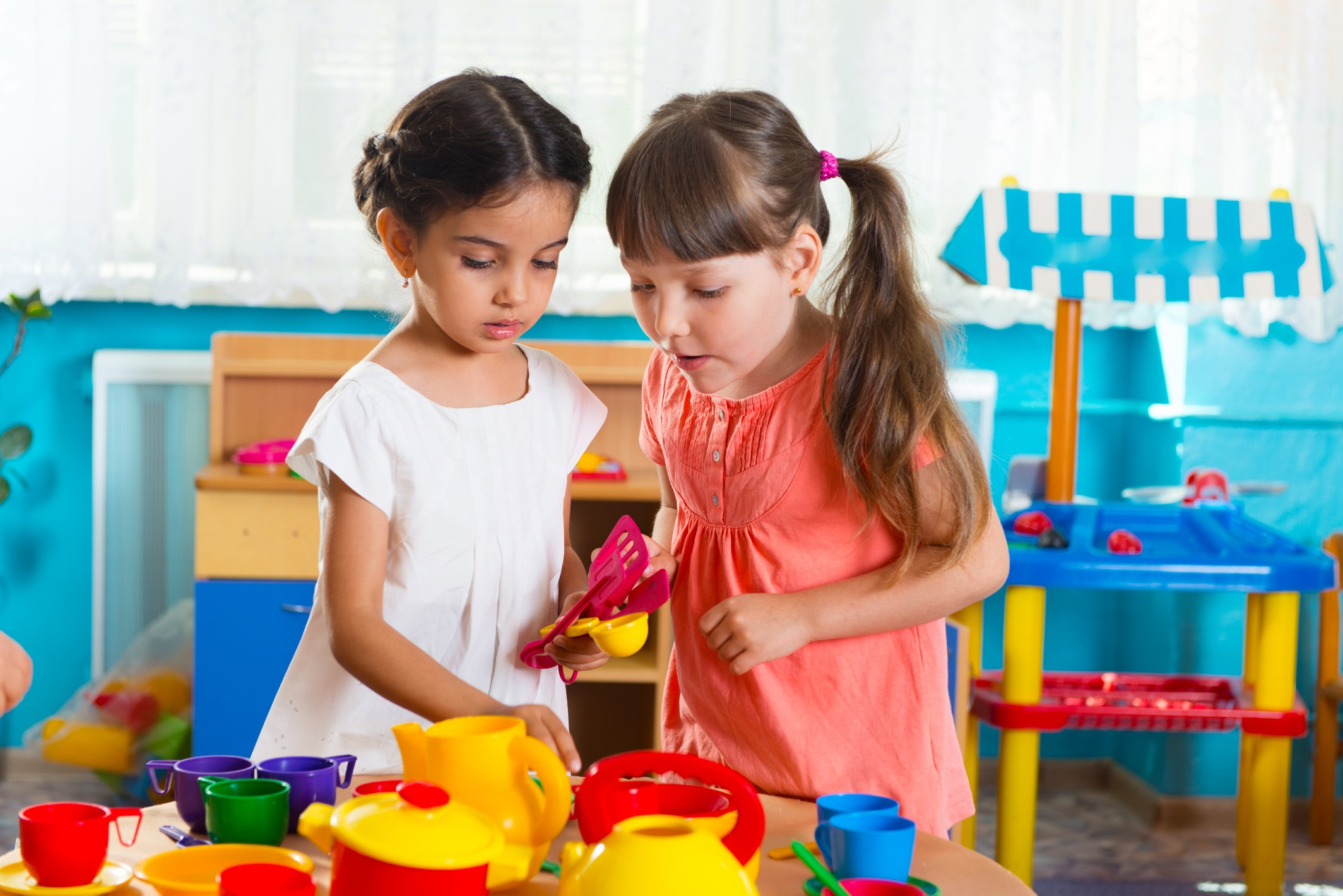 Children will learn from their peers and have more advanced conversations with one another.